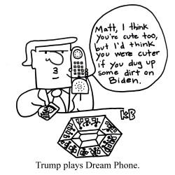 trump plays dream phone